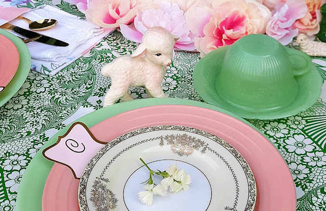 whimsical vintage Easter decor