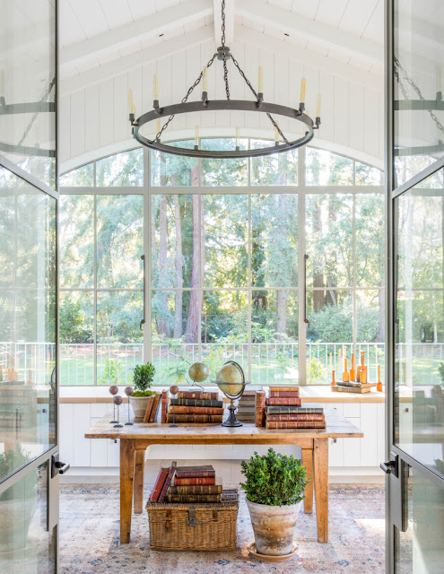 image result for traditional modern farmhouse sun room California renovation Giannetti