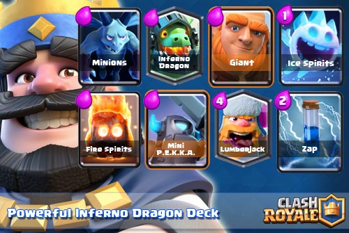 Strategi Deck Kuat Inferno Dragon Arena 8-9 Clash Royale