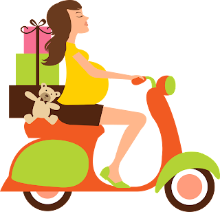 Toon Images With Pregnants Riding Motorcycles.