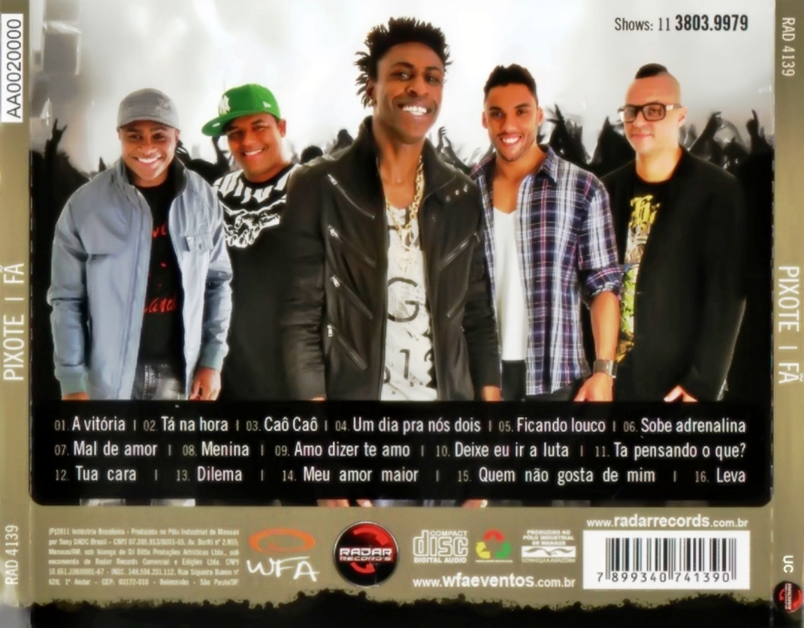 cd do grupo pixote 2012