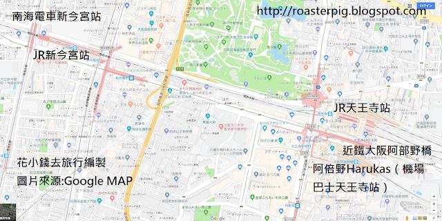 天王寺車站分佈地圖