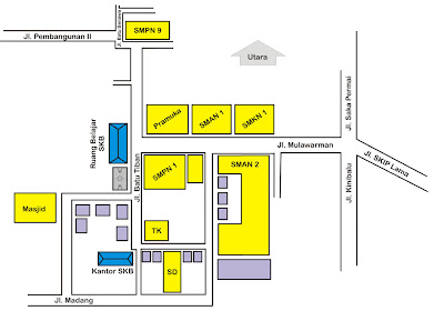 Peta Lokasi SKB Kota Banjarmasin