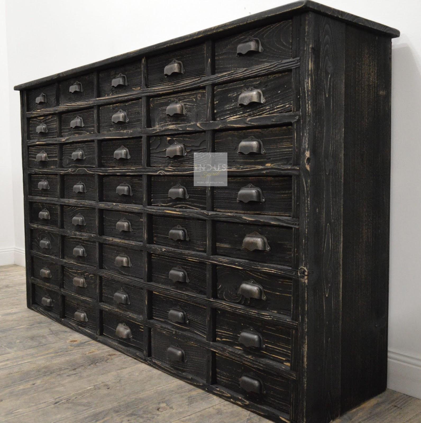 Meuble industriel d coration industrielle meuble de m tier lyon boutique indus spirit - Restauration meuble industriel ...
