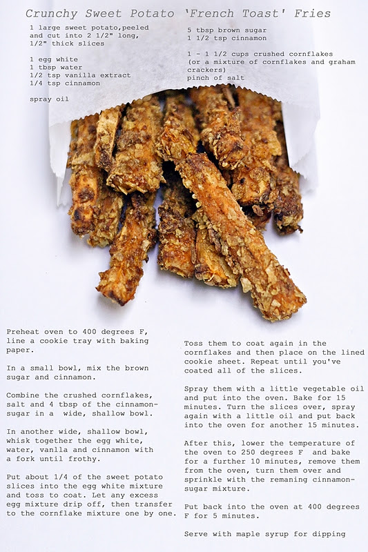 Crunchy Sweet Potato 'French Toast' Fries - Izy Hossack - Top With ...