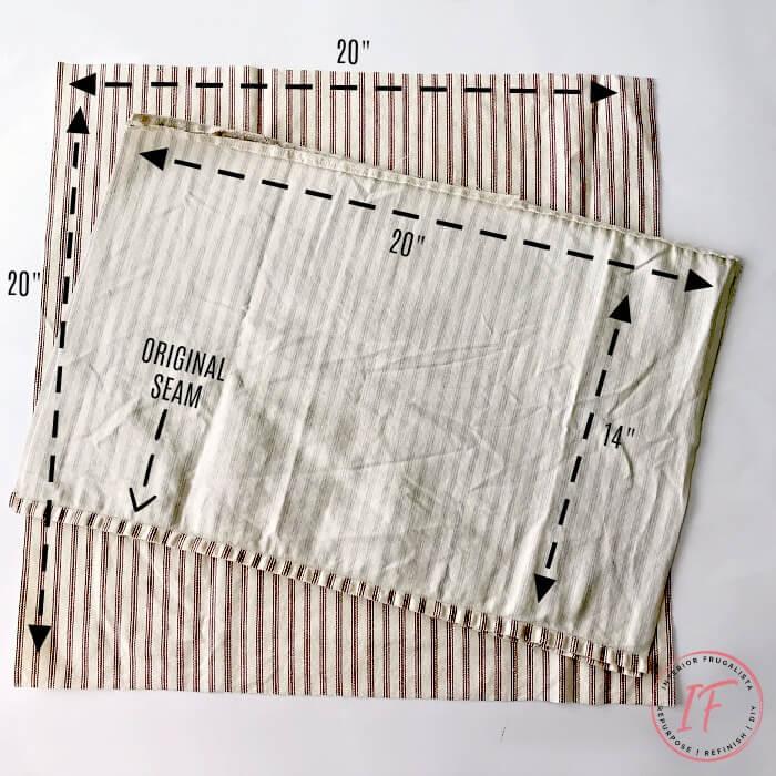 Office Chair Bolster Pillow Ticking Fabric Cut