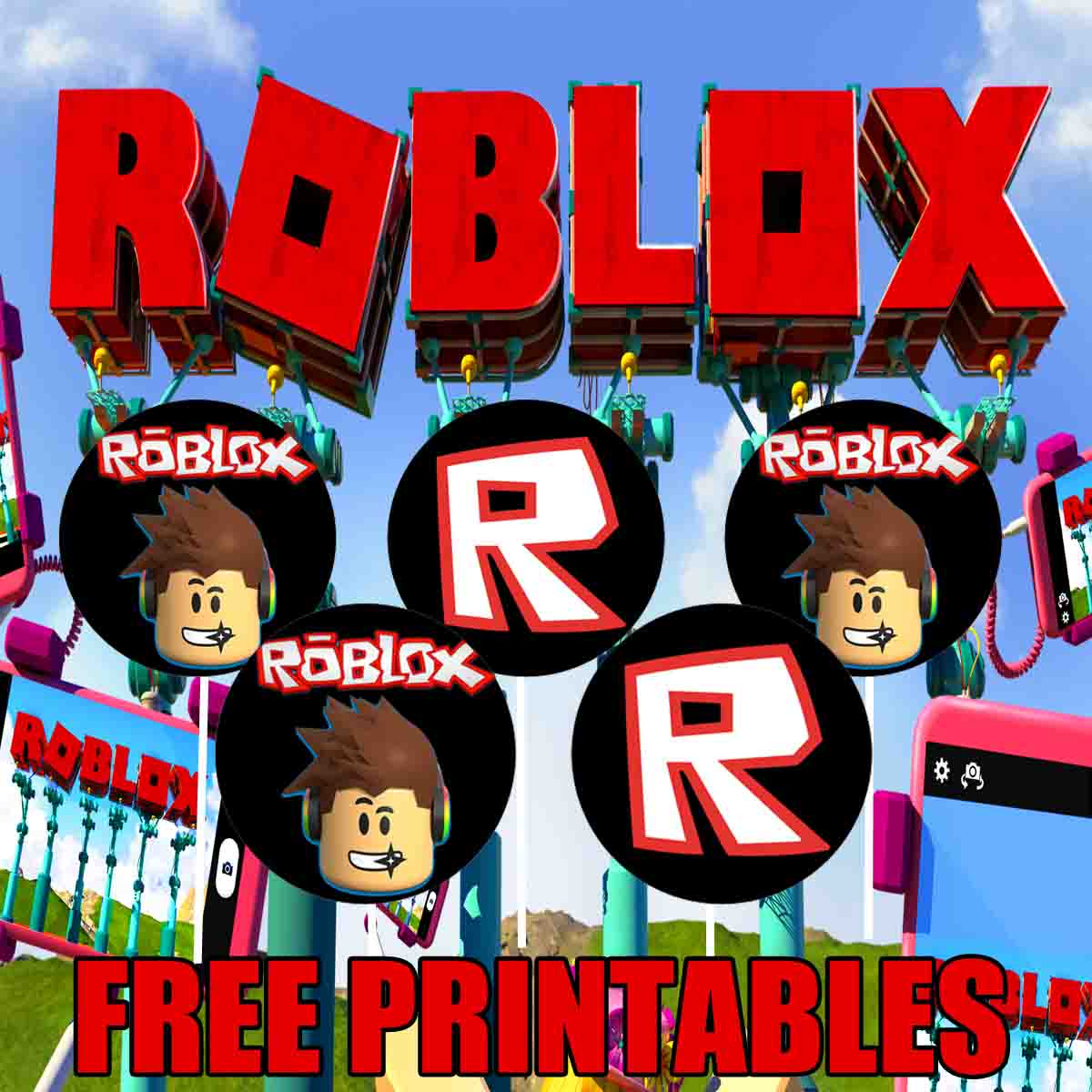 roblox birthday party printable files