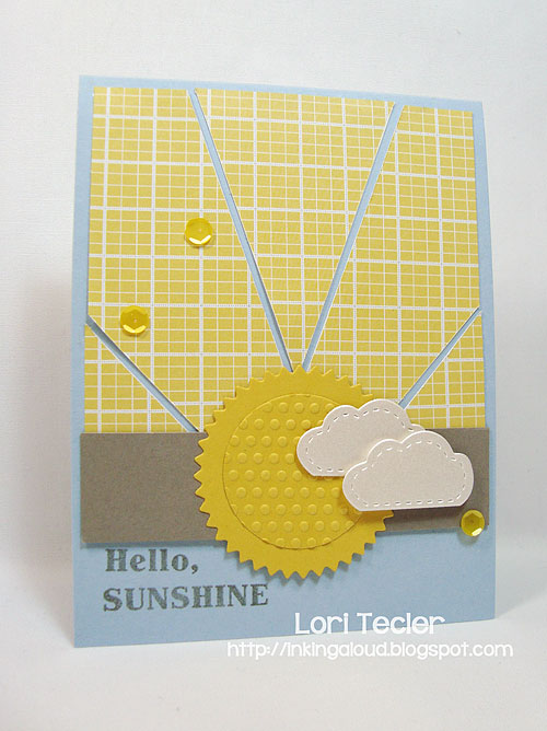 Hello, Sunshine-designed by Lori Tecler/Inking Aloud-stamps from Clear and Simple Stamps