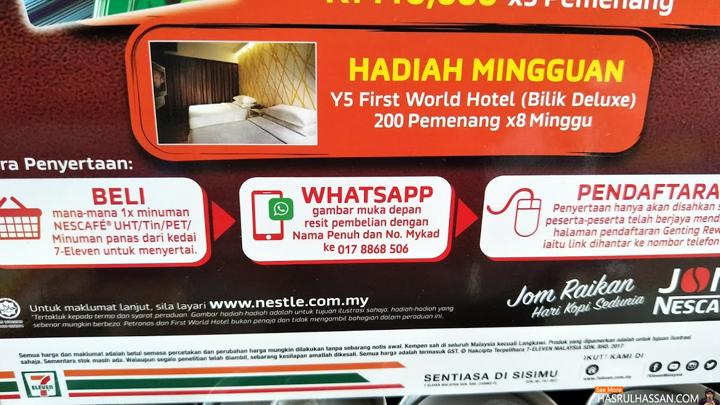 Jom WhatsApp Menang RM10,000 Nescafe - 7 Eleven