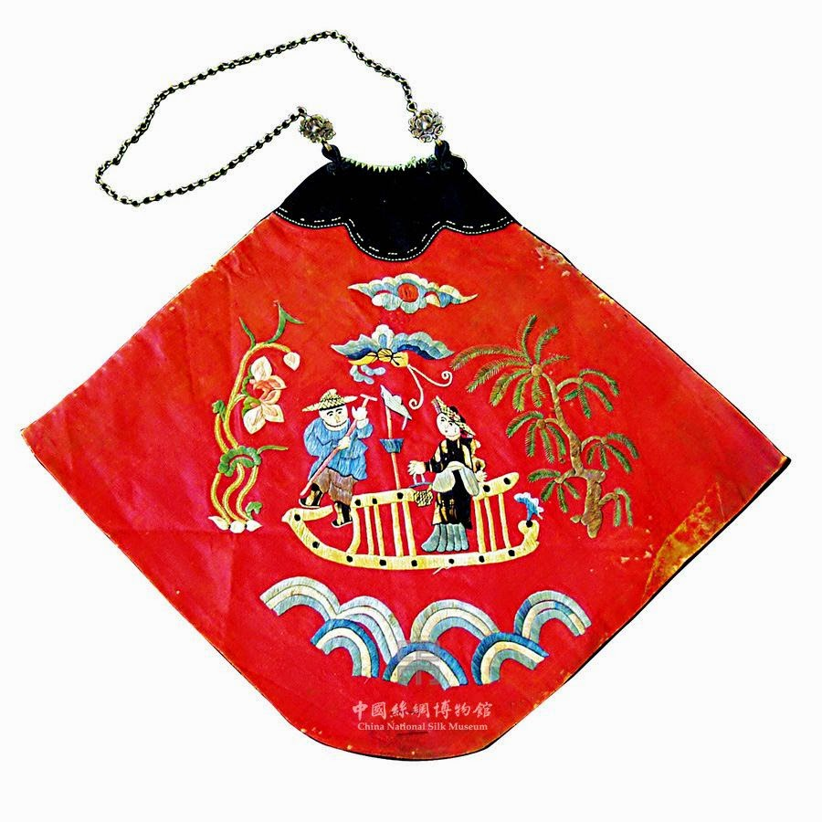 Embroidered dudou, late Qing dynasty