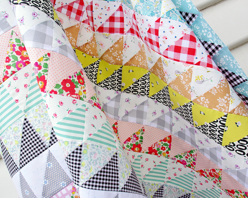 Half Square Triangles Galore | Quilt in Progress - September 2017 | © Red Pepper Quilts 2017
