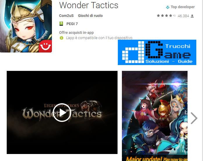 Trucchi Wonder Tactics Mod Apk Android v1.4.0