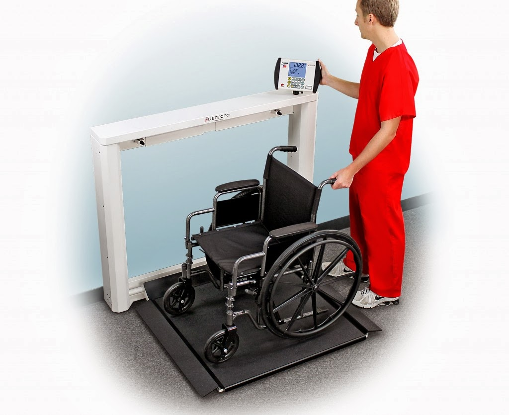 Detecto Chair Scale Gravity Sale 39s New 7550 Wall Mount Fold Up Wheelchair