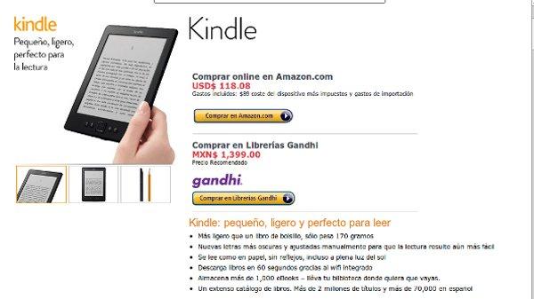 Amazon w Meksyku z możliwością zamówienia Kindle u konkurencji