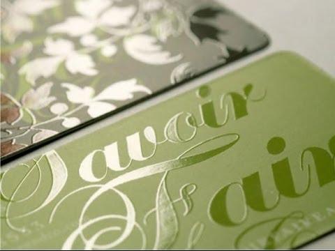 cartoes de visita verniz localizado super criativos verde - 10 lindos exemplos de Cartões de Verniz Localizado