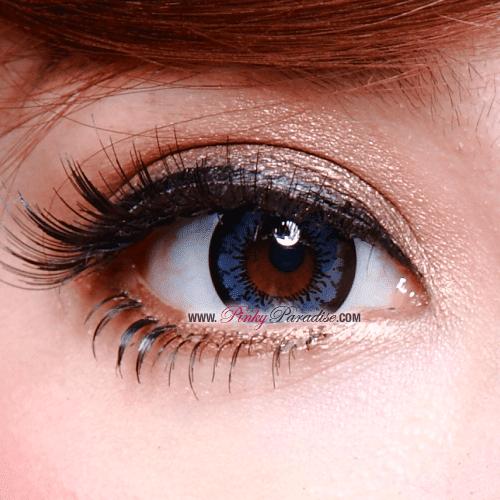 Geo Angel Blue Circle Lenses Close-up