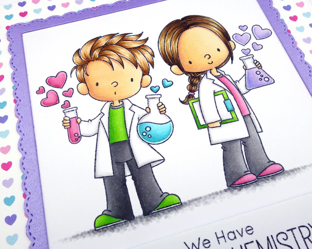 Valentine's Day card using MFT Cute Chemists