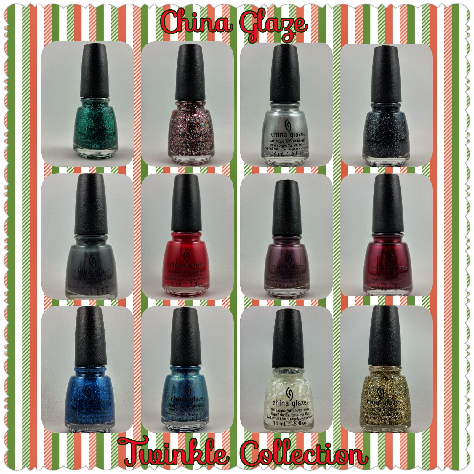 china glaze twinkle collection nail polish