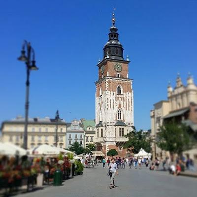 Torre del antiguo ayuntamiento de Cracovia