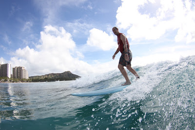 Athertyn Resident Sam Ballam Rides the Waves at Waikiki