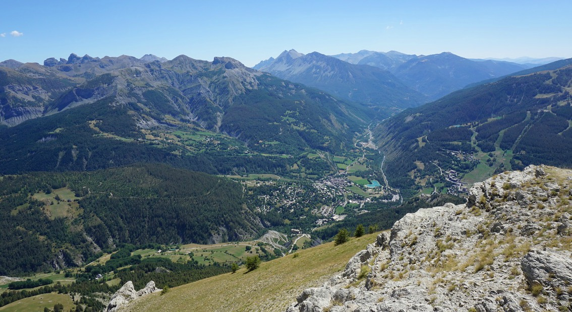 Allos Village seen from Rochegrand summit