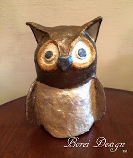 One year of crafts. How to make your own paper mache owl diy craft tutorial