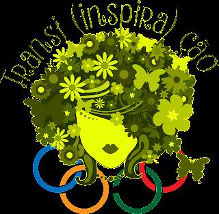 Logotipo Transi(inspira)ção verde com anéis olímpicos