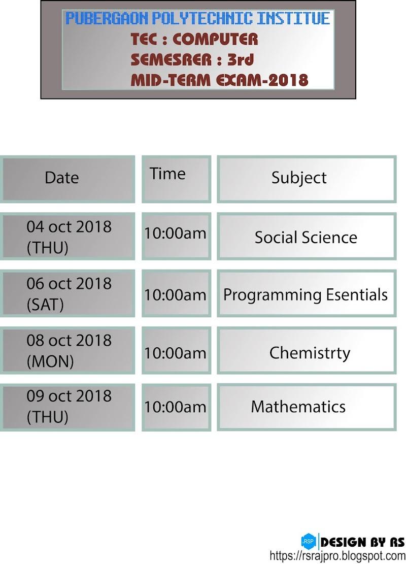 mid-term exam 2018