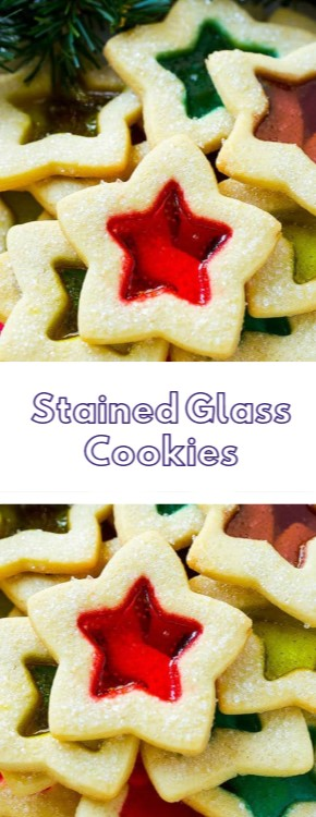 Stained Glass Cookies #christmas #cookies