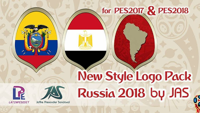 PES 2017 New Style Logo Pack Russia 2018