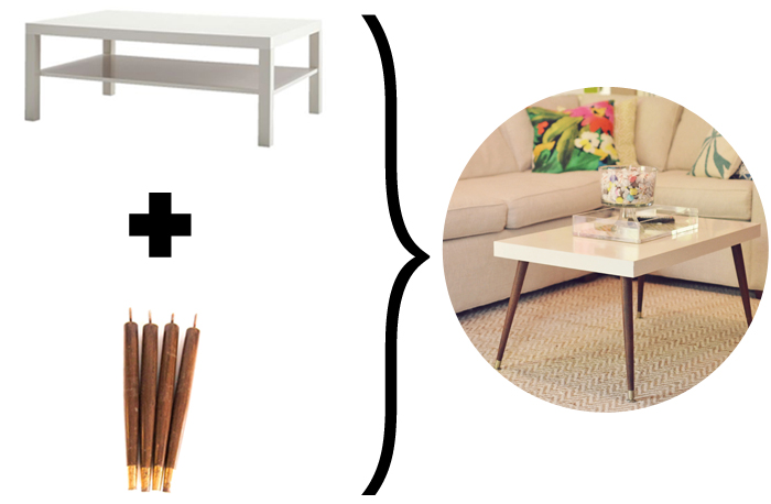 The White Lack Coffee Table From Ikea Was Just Right Size And Doubled As Our Dining Room Well We Are Thugs Like That