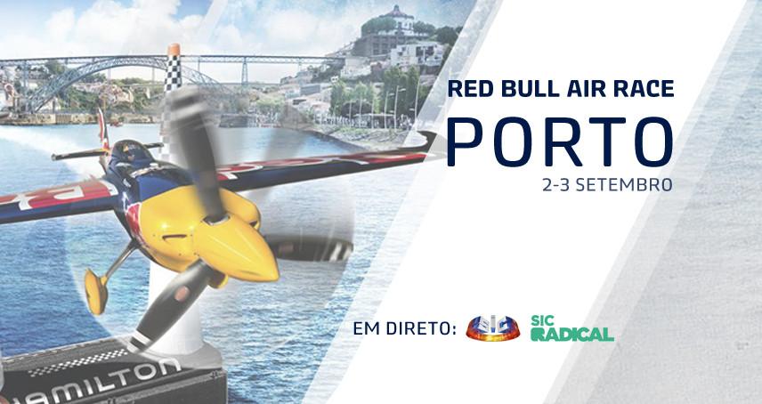 Red Bull Air Race Porto' dia 2 e 3 de setembro em direto na