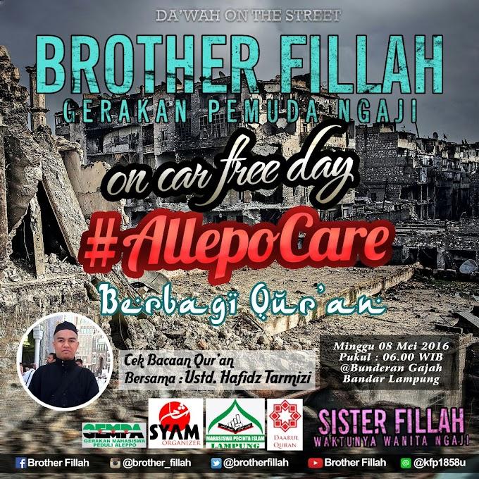 Yuk, ikuti ! #AleppoCare on Car Free Day