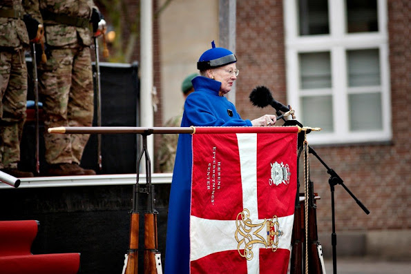 Queen Margrethe of Denmark visited Army Intelligence Center and supervised the pageant. Jewelery, jeweler, diamond, earrings, weddings dress