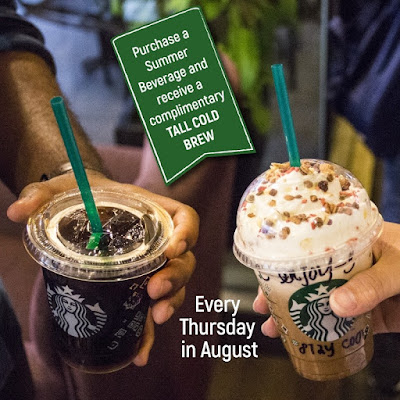 Buy Starbucks Summer Frappuccino Free TALL Cold Brew Thursday Promo