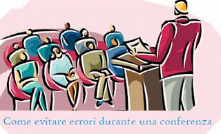 evitare errori durante una conferenza