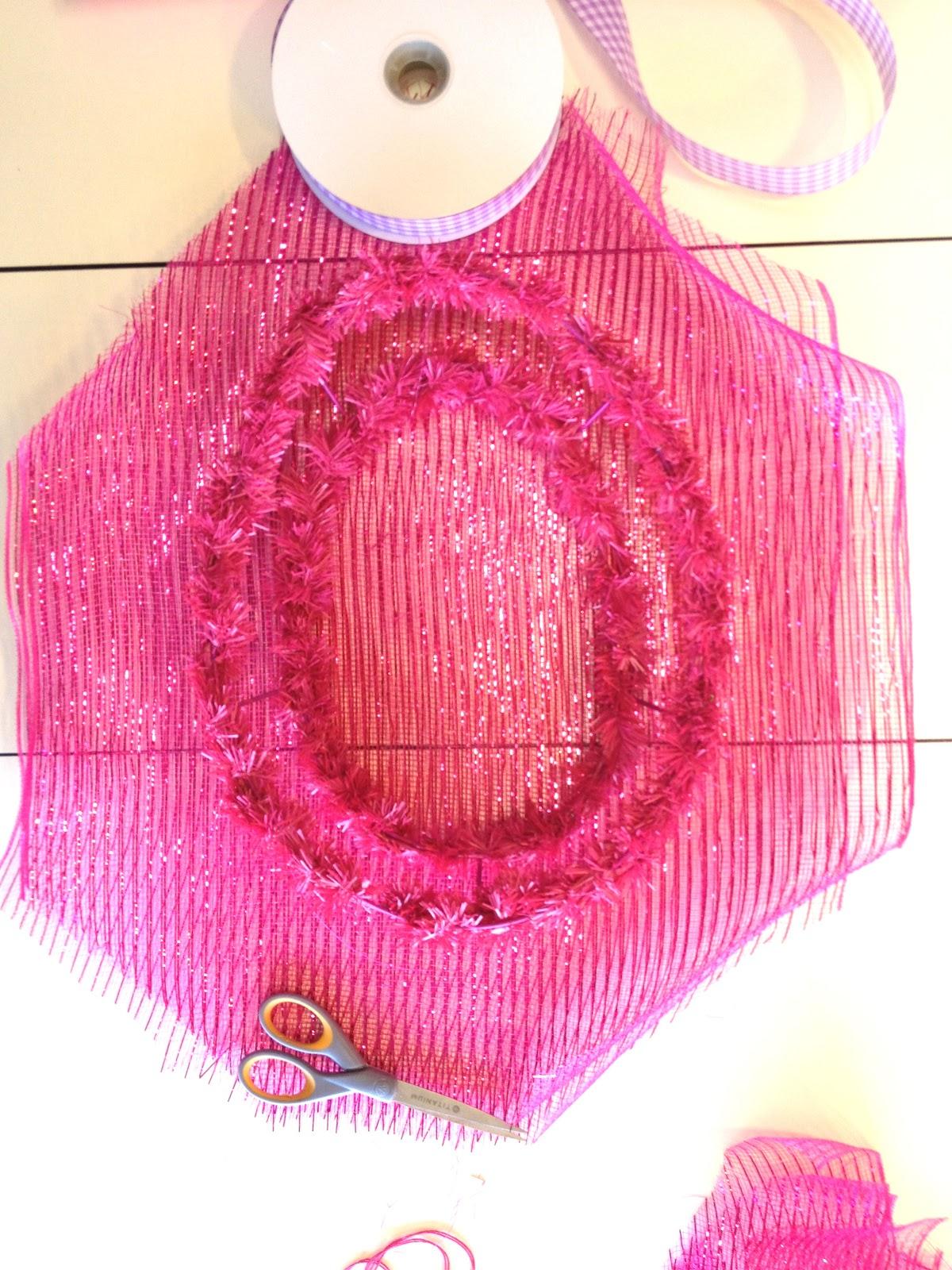 Deco mesh wreath form fall deco mesh wreaths how to make deco mesh
