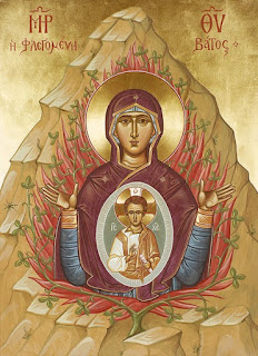 Orthodox icon of the burning bush