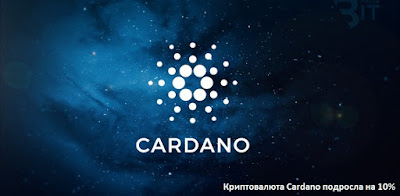 Криптовалюта Cardano подросла на10%