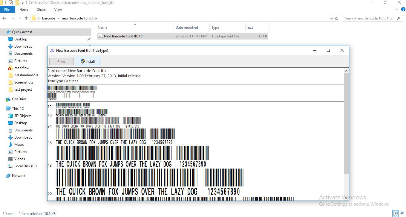 Generate barcode and qrcode in excel
