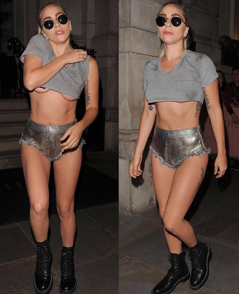 Lady Gaga wants You to see Her Under-Boobs.