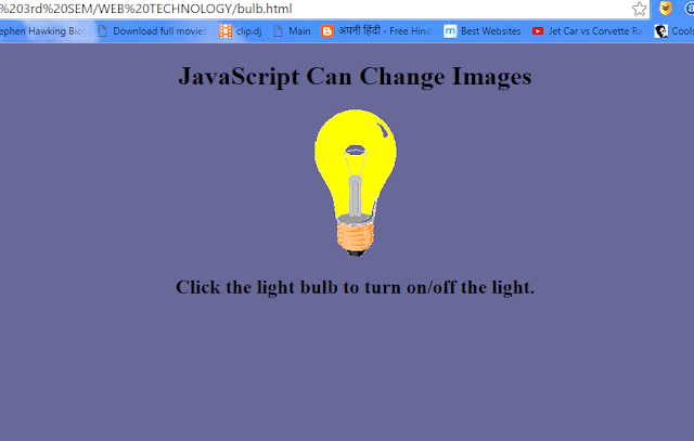 light bulb on javascript