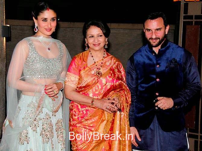 Sharmila Tagore, Kareena Kapoor, Saif ali khan, Soha Ali Khan Kunal Khemu wedding receptionPhoto gallery album