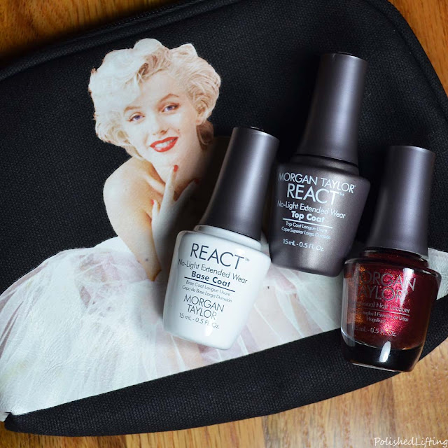 nail polish gift set Marilyn Monroe makeup bag