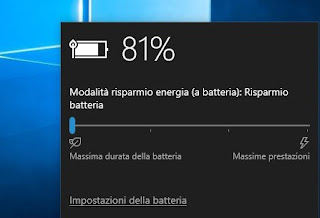 Batteria Windows 10