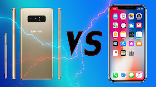 من الأفضل ويستحق الإقتناء Galaxy Note 8 vs Iphone X ؟ مقارنة بينهما