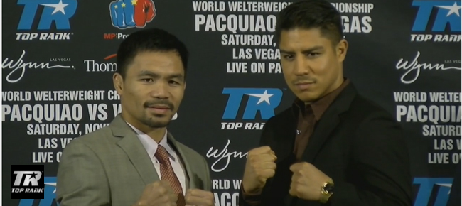 Manny Pacquiao vs. Jessie Vargas' FACE OFF and Kickoff LA Presser (VIDEO)