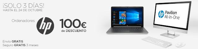 Top 5 ofertas ¡Solo 3 Días! 100 € de descuento en ordenadores HP de El Corte Inglés