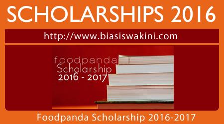 Foodpanda Scholarship 2016-2017