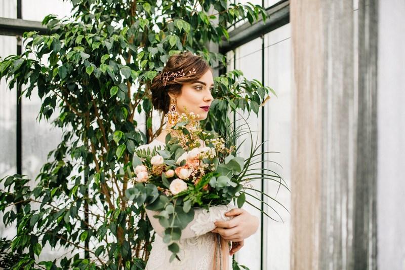 Romantyczna stylizacja ślubna boho